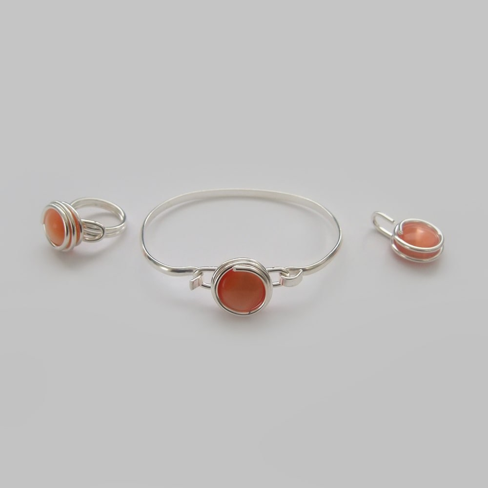 Small-orange-glass-set